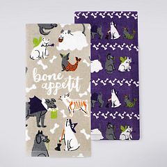 Celebrate Halloween Together 'Bone Appetit' Kitchen Towel 2-pack
