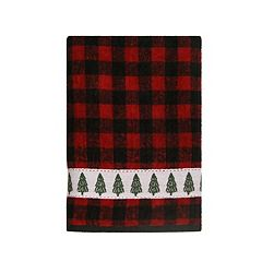 St. Nicholas Square® Farmhouse Plaid Christmas Tree Bath Towel