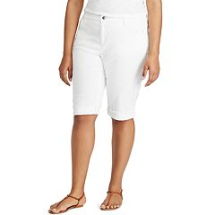 Plus Size Chaps Cuffed Twill Skimmer Shorts