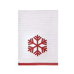 St. Nicholas Square® Farmhouse Christmas Stripe Snowflake Bath Towel