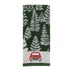St. Nicholas Square® Farmhouse Christmas Tree Truck Hand Towel