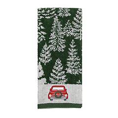 St. Nicholas Square® Farmhouse Christmas Tree Truck Hand Towel