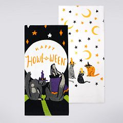 Celebrate Halloween Together 'Happy Howl-o-Ween' Kitchen Towel 2-pack