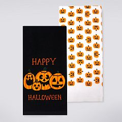 Celebrate Halloween Together 'Happy Halloween' Pumpkin Kitchen Towel 2-pack