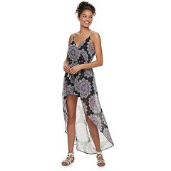 Juniors' Lily Rose High-Low Maxi Romper