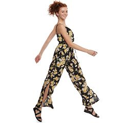 Juniors' Lily Rose Surplice Jumpsuit