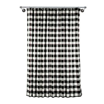 St Nicholas SquareR Farmhouse Christmas Buffalo Shower Curtain