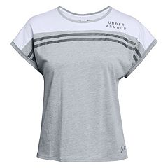 Women's Under Armour Striped Baseball Tee