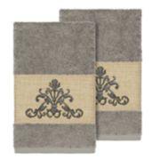 Linum Home Textiles Scarlet Embellished Hand Towel Set