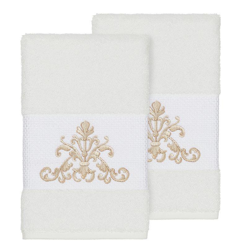 Linum Home Textiles Scarlet Embellished Hand Towel Set. Multicolor. 4PC SET