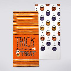 Celebrate Halloween Together 'Trick-or-Treat' Kitchen Towel 2-pack
