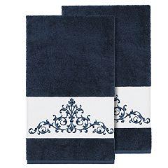 Linum Home Textiles Scarlet Embellished Bath Towel Set