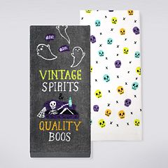 Celebrate Halloween Together Vintage Spirits Kitchen Towel 2-pack