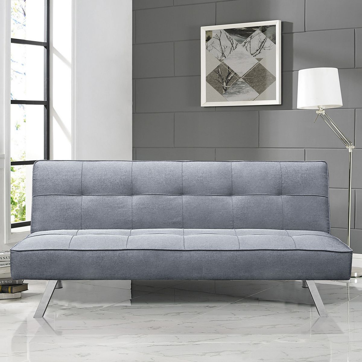 Serta Chelsea 3 Seat Multi function Upholstery Fabric ...