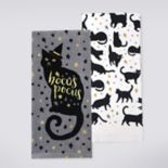 "Celebrate Halloween Together ""Hocus Pocus"" Black Cat Kitchen Towel 2-pack"