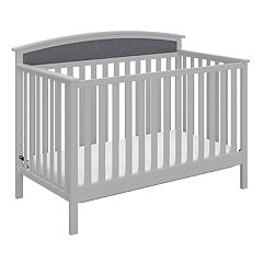 Graco Mackenzie 5-in-1 Upholstered Reversible Headboard Convertible Crib