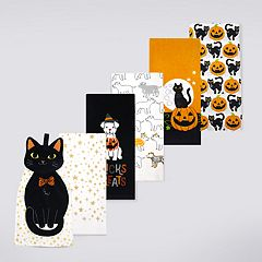 Celebrate Halloween Together Halloween Pets Kitchen Towel 6-pack