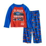 "Toddler Boy Hot Wheels ""Classic American"" Top & Bottoms Pajama Set"