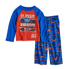 Toddler Boy Hot Wheels 'Classic American' Top & Bottoms Pajama Set