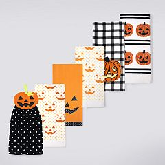 Celebrate Halloween Together Halloween Pumpkins Kitchen Towel 6-pack