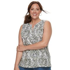 Plus Size Croft & Barrow® Henley Tank