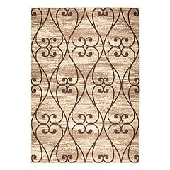 Rizzy Home Xcite Transitional Scrollwork Trellis Rug
