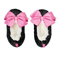 Girls 4-16 JoJo Siwa Bow Fuzzy Babba Slippers