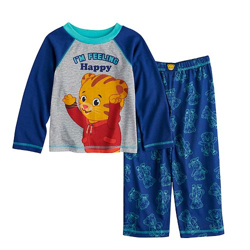 "Toddler Boy Daniel Tiger "" I'm Feeling Happy"" Top & Bottoms Pajama Set"