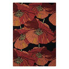 Nourison Fantasy Floral Black Area Rug