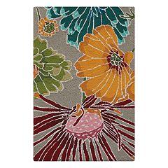 Nourison Fantasy Floral Gray Area Rug