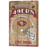 San Francisco 49ers Wood Sign
