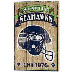 Seattle Seahawks Wood Sign