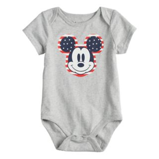 Disney's Mickey Mouse Baby Patriotic Graphic Bodysuit by Jumping Beans®