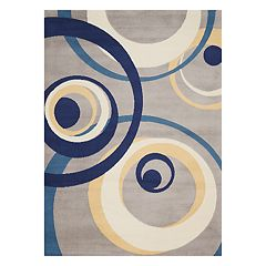 Nourison Grafix Geometric Gray Area Rug