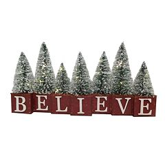 St. Nicholas Square® Light-Up 'Believe' Christmas Table Decor
