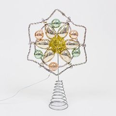 LC Lauren Conrad Snowflake Light-Up Christmas Tree Topper