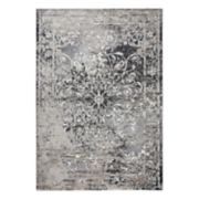 Rizzy Home Panache Transitional Central Medallion Scroll Work Distressed Geometric Rug