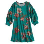 Girls 7-16 My Michelle Floral Swing Dress