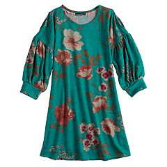 Girls 7-16 My Michelle Floral Swing Dress