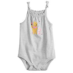 Disney's Winnie the Pooh Baby Girl Smocked Bodysuit by Jumping Beans®