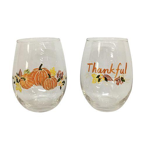 Celebrate Fall Together 2-piece Wine Glass Set
