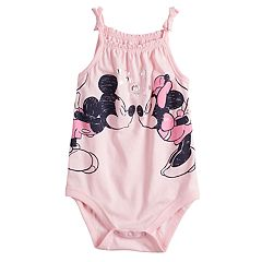 Disney's Mickey & Minnie Mouse Baby Girl Smocked Bodysuit by Jumping Beans®