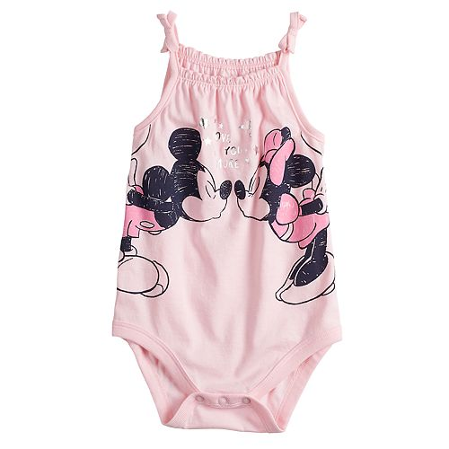 214feaeebf81 Disney s Mickey   Minnie Mouse Baby Girl Smocked Bodysuit by Jumping ...
