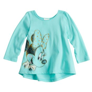 Disney's Minnie Mouse Baby Girl Glitter Graphic Top by Jumping Beans®