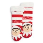 "Girls 4-16 The Elf on the Shelf® ""Believe"" Cozy Slipper Socks"
