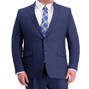 Haggar Mens Big and Tall Big /& Tall Travel Performance Heather 2-Button Classic Fit Suit Separate Coat