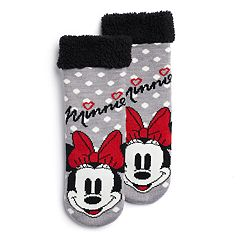 Disney's Minnie Mouse Girls 4-16 Cozy Slipper Socks