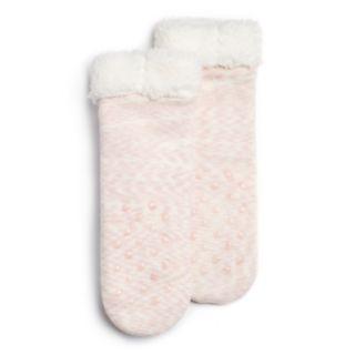 Girls 4-16 Holiday Reindeer Cozy Slipper Socks