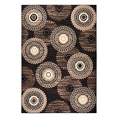 Rizzy Home Xcite Transitional Spiral Geometric Rug
