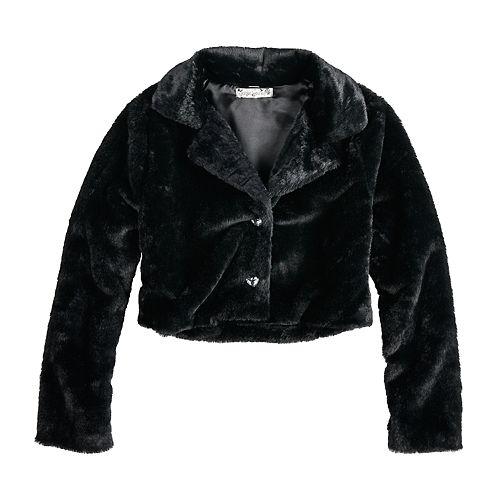 Girls 7-16 Knitworks Faux Fur Jacket